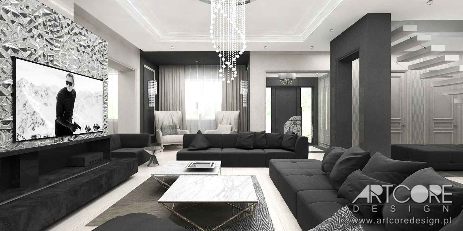 Projekt wnętrza apartamentu w krakowie