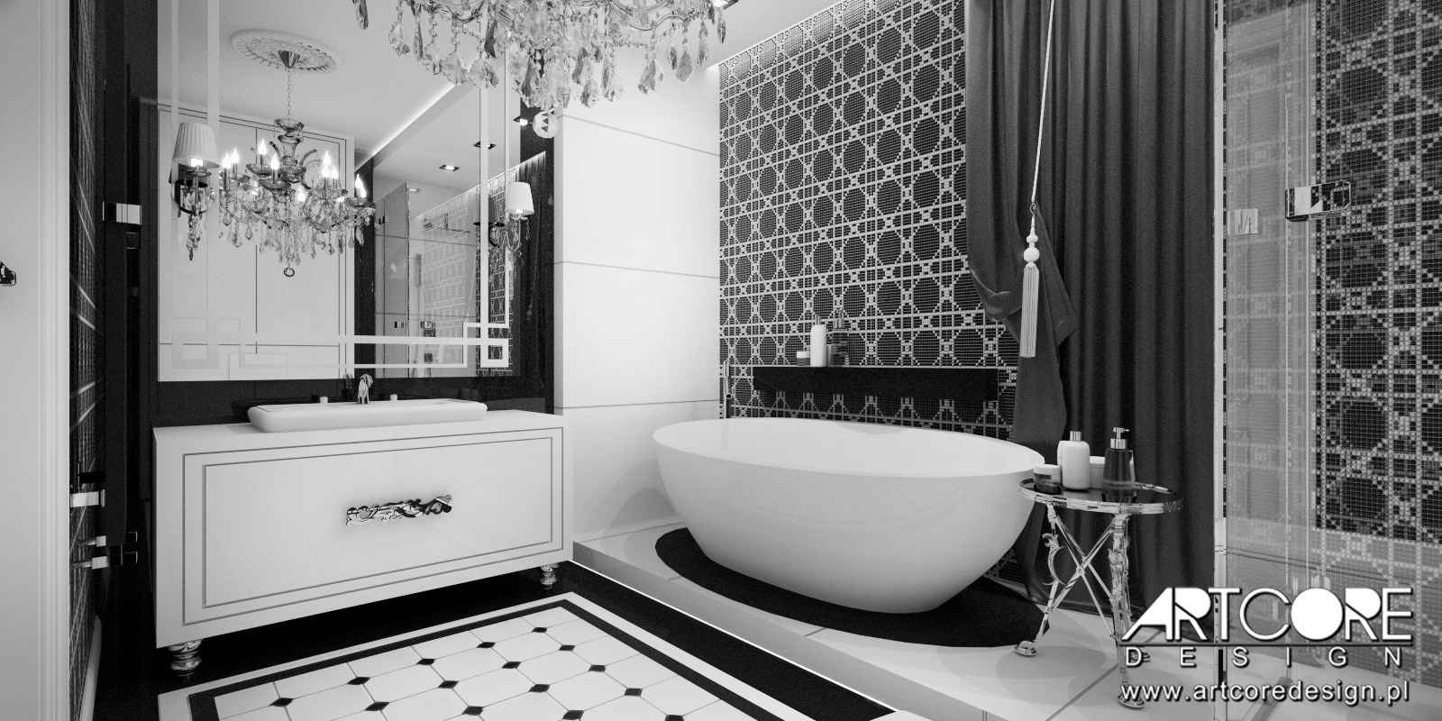 luksusowe wnętrze krakowskiej łazienki