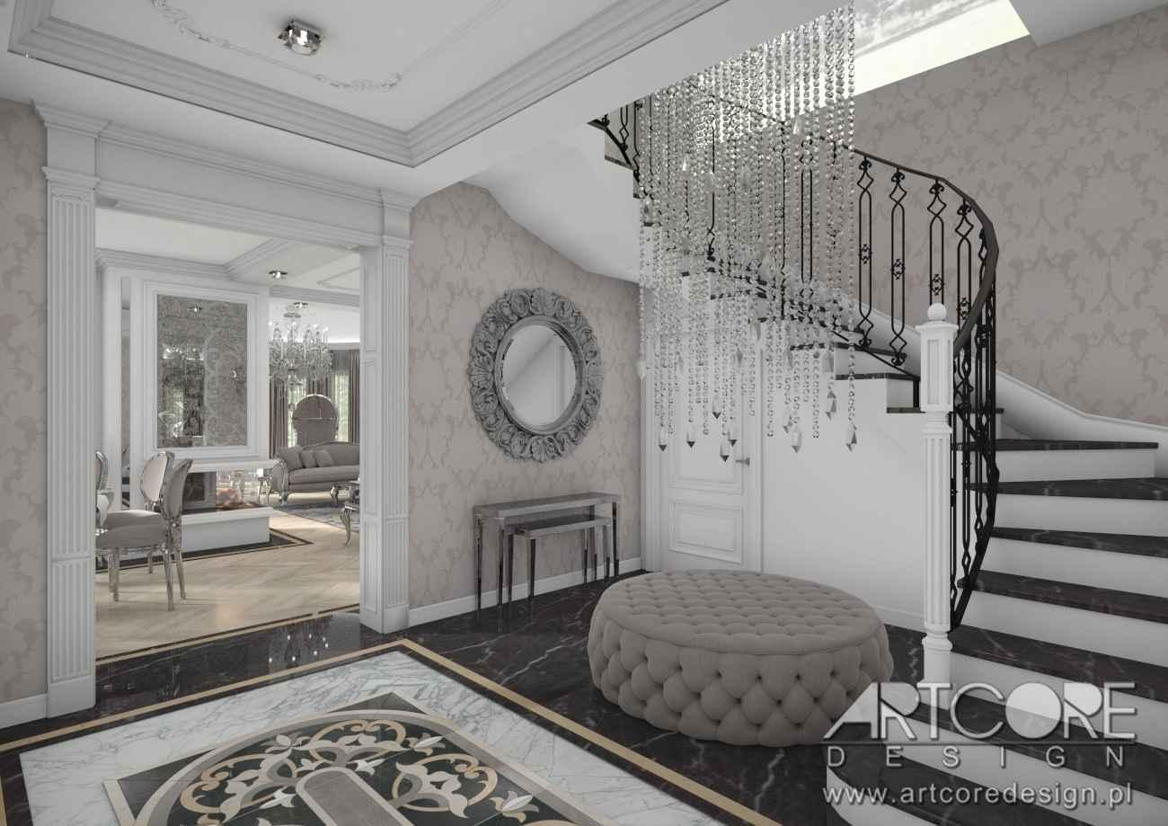 architekt wnętrz kraków korytarz pałacowy