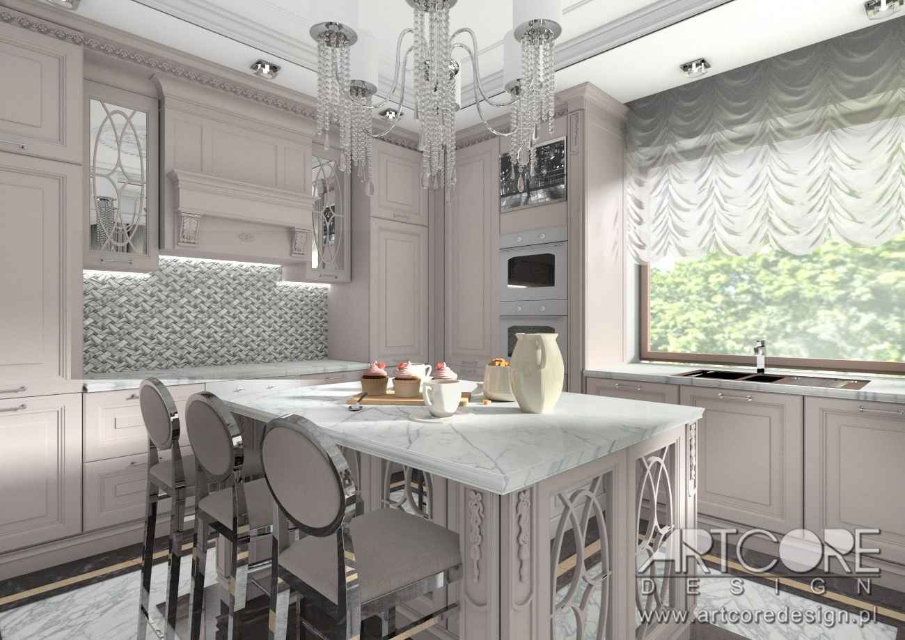projektowanie wnetrza domowej kuchni w krakowie