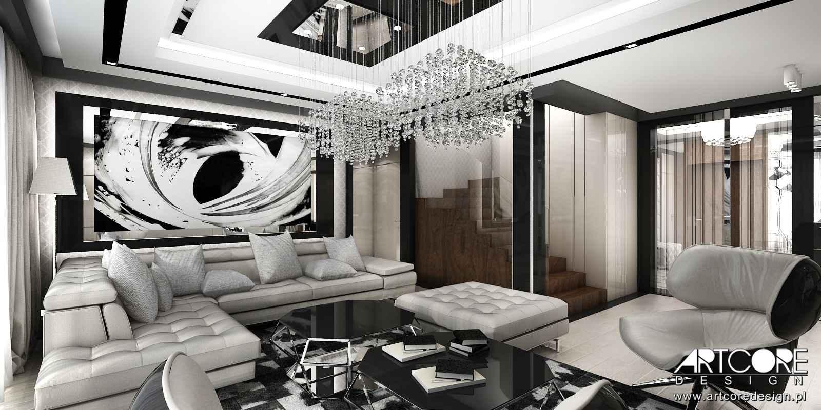 projektant-wnętrz-kraków-salon-nowoczesny