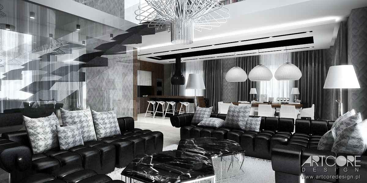 aranzacja nowoczesnego salonu architekt wnętrz