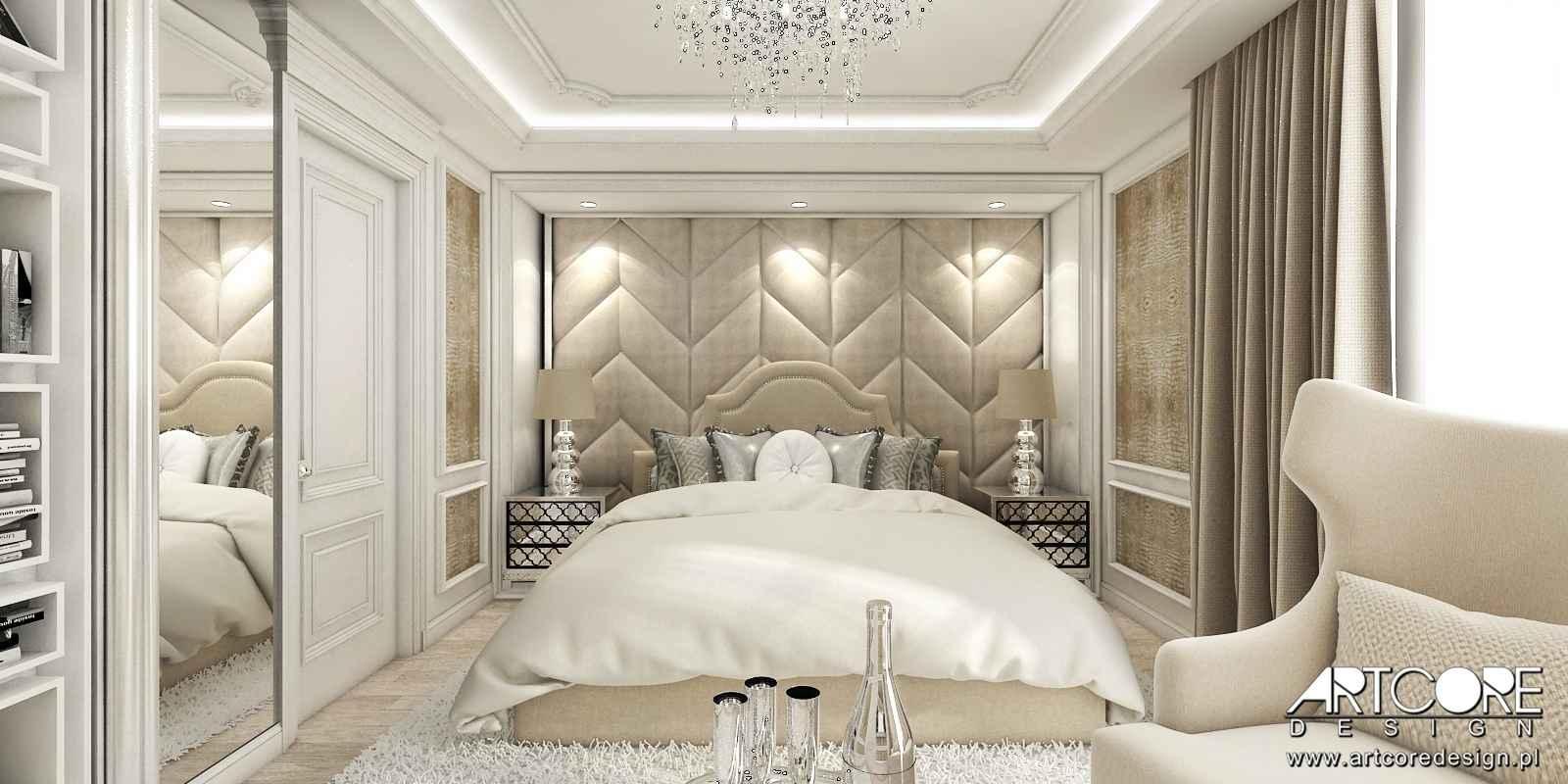 projektant wnętrz kraków sypialnia glamour