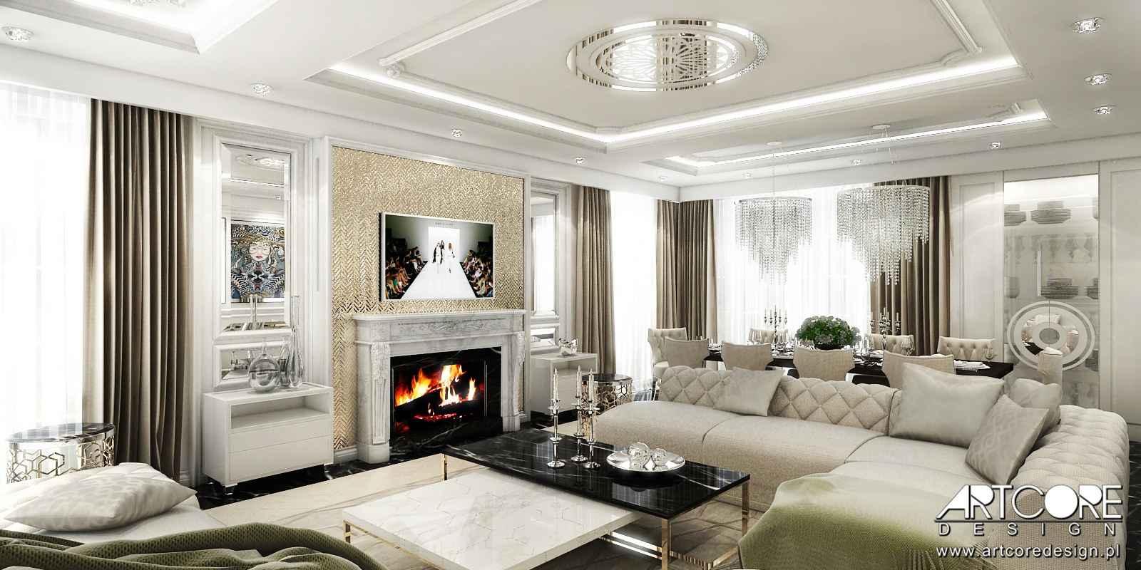 wnętrze luksusowe dom w krakowie