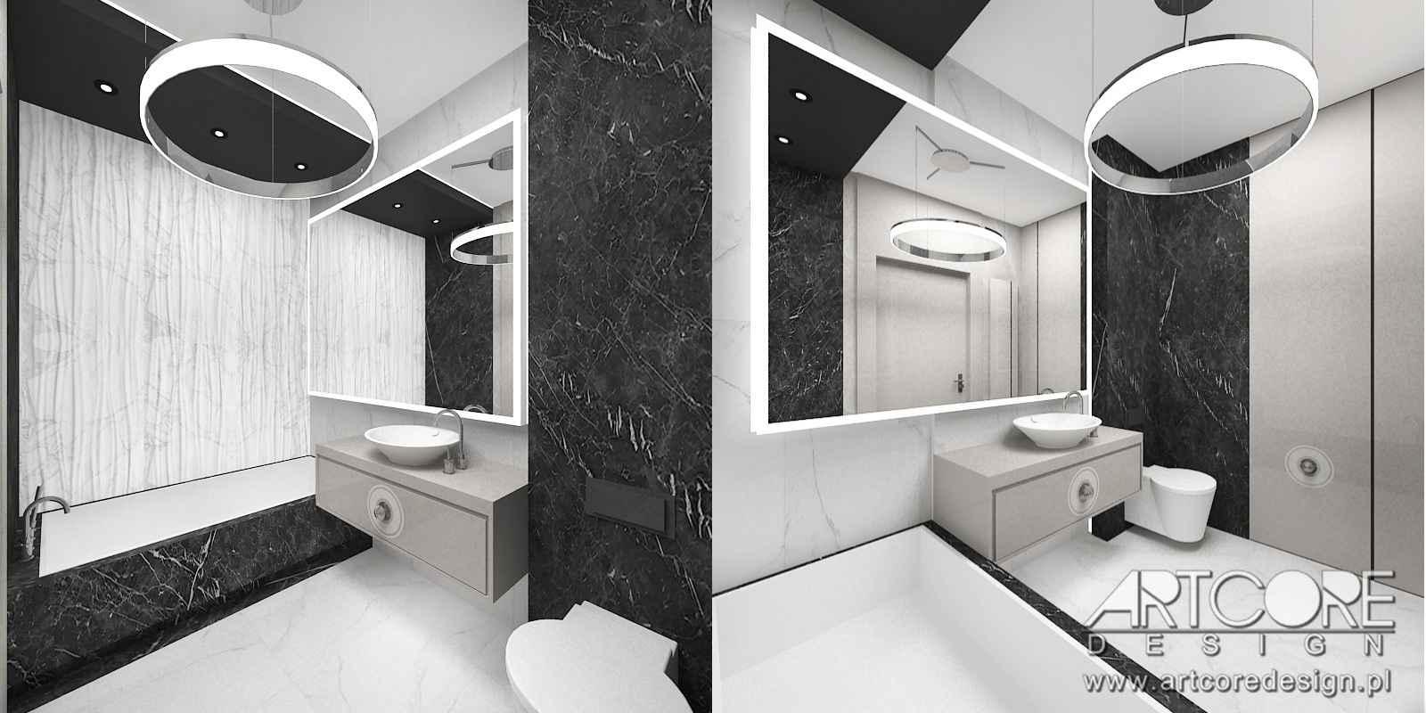 projektowanie wnętrz nowoczesnej łazienki w krakowie