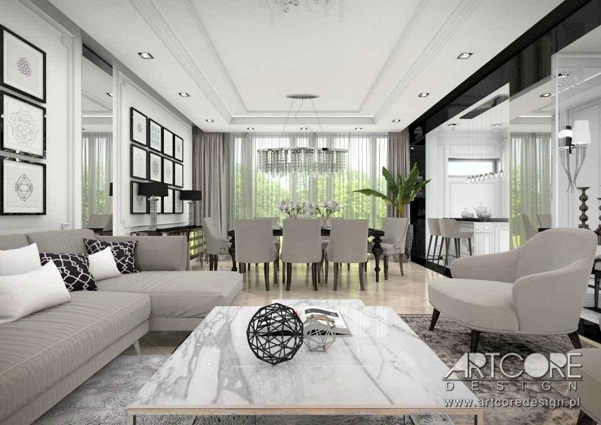 projektowanie wnętrz salonu apartamentu w krakowie