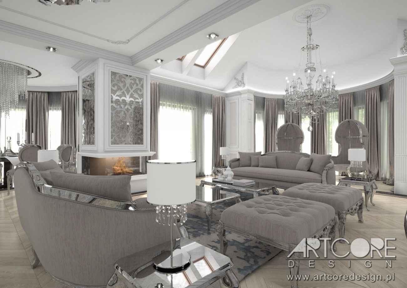 projekt pałacowego salonu w krakowskim domu